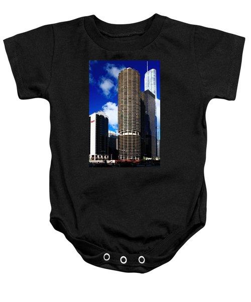 Marina City Corncob Tower Baby Onesie
