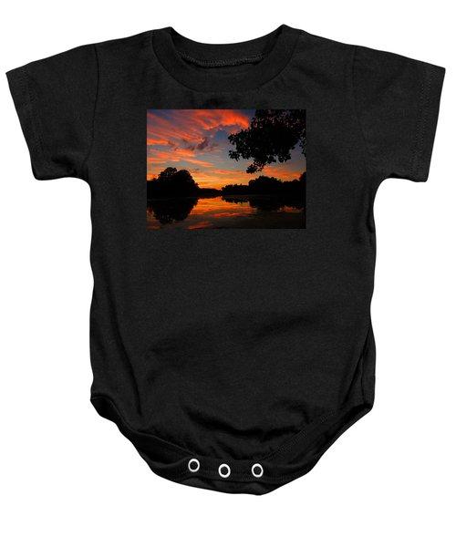 Marlu Lake At Sunset Baby Onesie