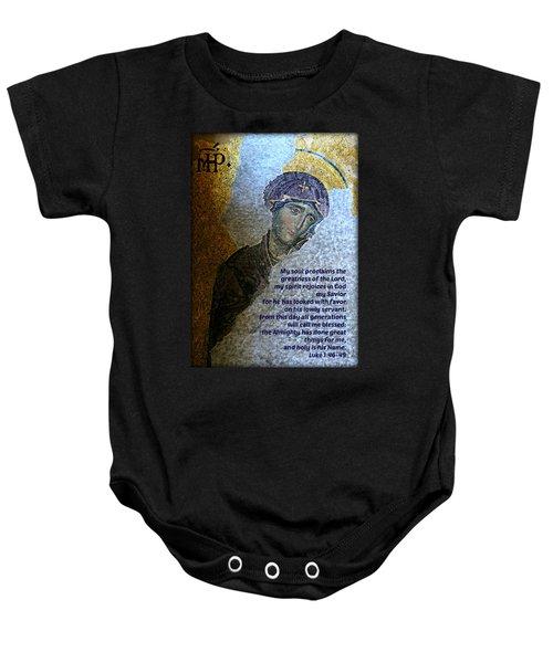 Mary's Magnificat Baby Onesie