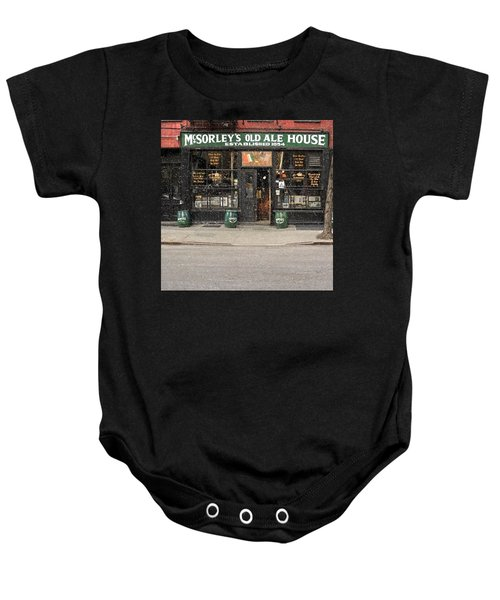 Mcsorley's Old Ale House During A Snow Storm Baby Onesie