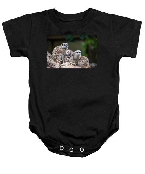 Meerkat Family Baby Onesie