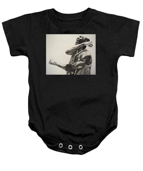Michael Jordan Baby Onesie by Jake Stapleton