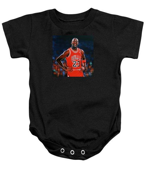 Michael Jordan Baby Onesie by Paul Meijering