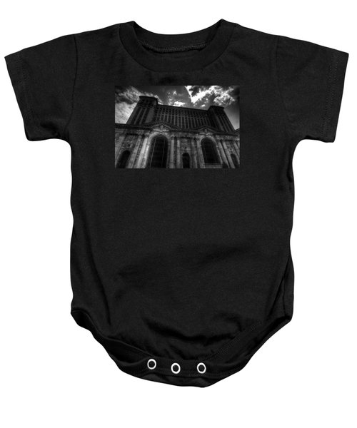 Michigan Central Station Highrise Baby Onesie