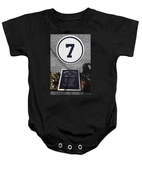 Mickey Mantle Baby Onesie by Allen Beatty
