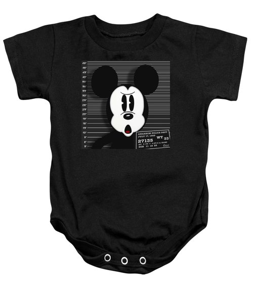 Mickey Mouse Disney Mug Shot Baby Onesie