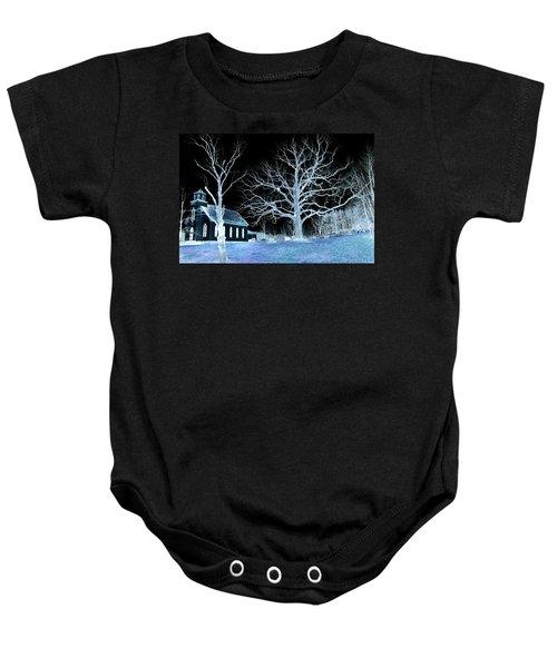 Midnight Country Church Baby Onesie