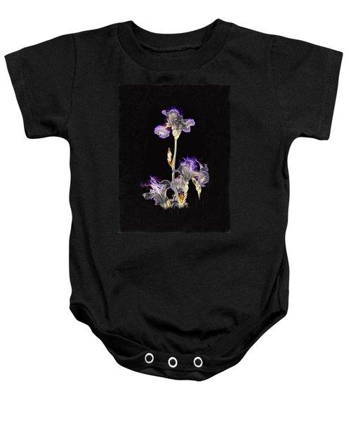 Midnight Iris Baby Onesie