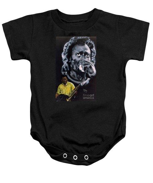 Miles Davis Jazz King Baby Onesie