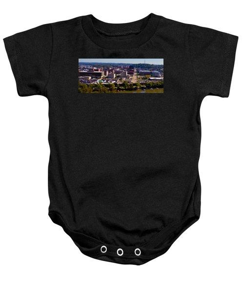 Mini Downtown Parkersburg Baby Onesie by Jonny D