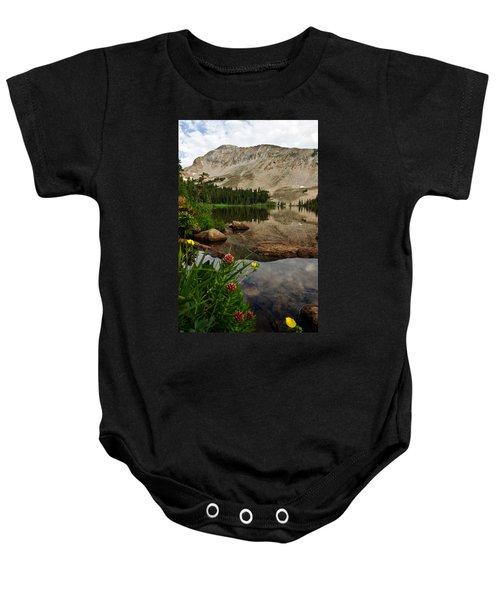 Mitchell Lake Reflections Baby Onesie