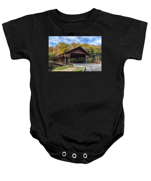 Mohican Covered Bridge Baby Onesie