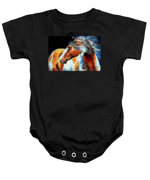 Mohican The Indian War Pony Baby Onesie