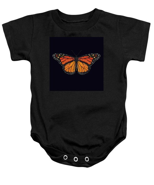 Monarch Butterfly Bedazzled Baby Onesie