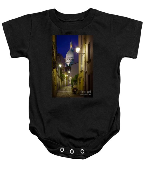 Montmartre Street And Sacre Coeur Baby Onesie