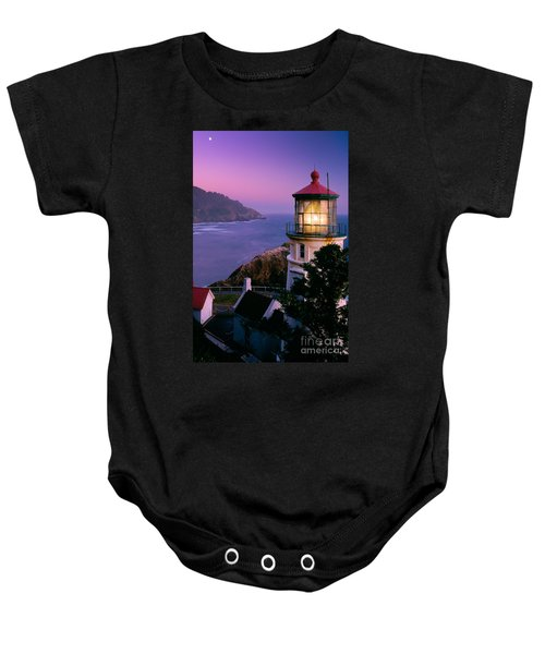 Moon Over Heceta Head Baby Onesie
