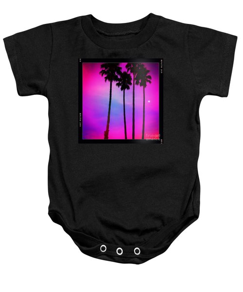 Moon Palms Baby Onesie
