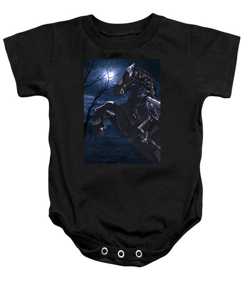 Moonlit Warrior Baby Onesie