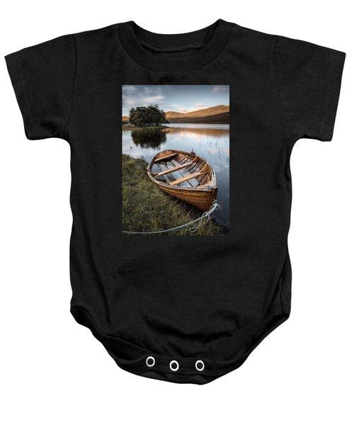 Moored On Loch Awe Baby Onesie