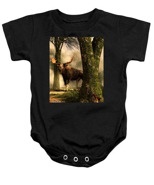 Moose And Squirrel Baby Onesie