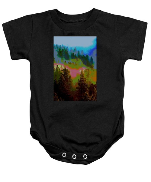 Morning Arrives In The Pacific Northwest Baby Onesie