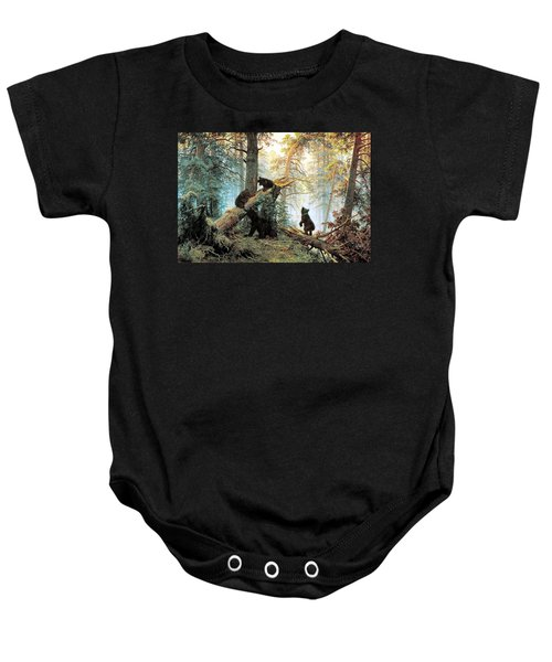 Morning In A Pine Forest Baby Onesie