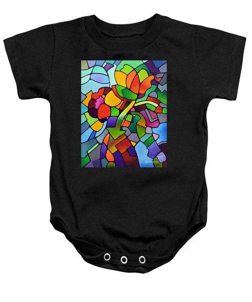 Mosaic Bouquet Baby Onesie