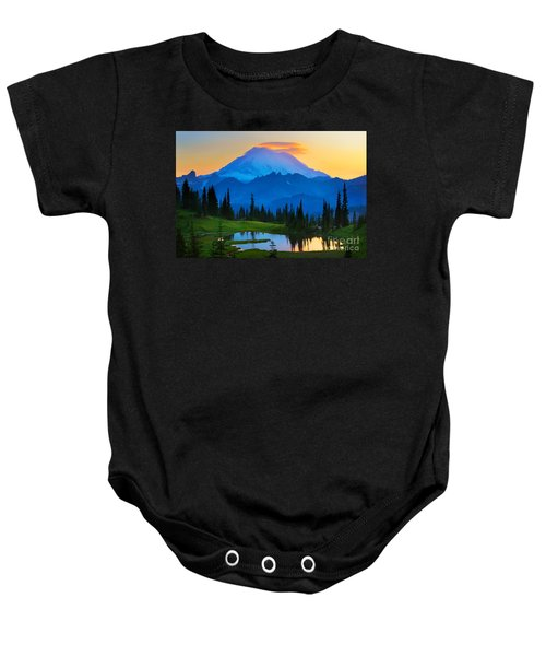 Mount Rainier Goodnight Baby Onesie