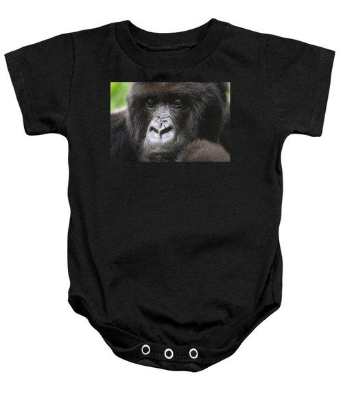 Mountain Gorilla Female Portrait Virunga Baby Onesie