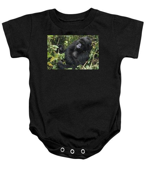 Mountain Gorilla Female Virunga Mts Baby Onesie