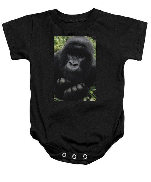 Mountain Gorilla Juvenile Portrait Baby Onesie