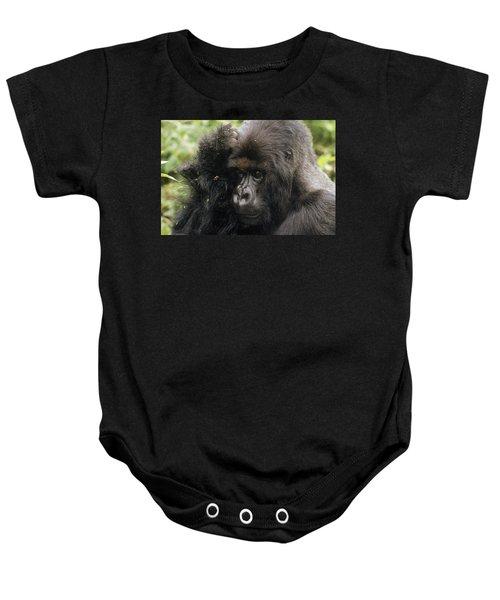Mountain Gorilla Male Virunga Mts Baby Onesie