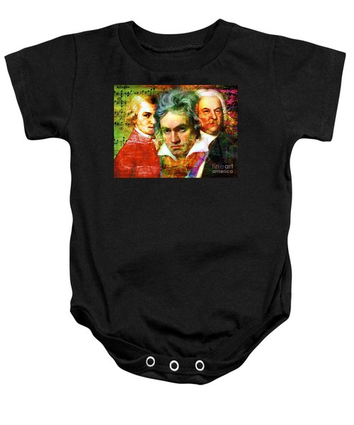 Mozart Beethoven Bach 20140128 Baby Onesie