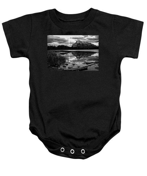 Mt. Rundle Reflection Baby Onesie