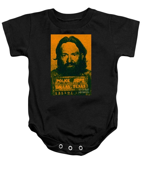 Mugshot Willie Nelson P0 Baby Onesie