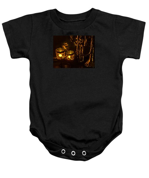 Trumpet And Candlelight Baby Onesie
