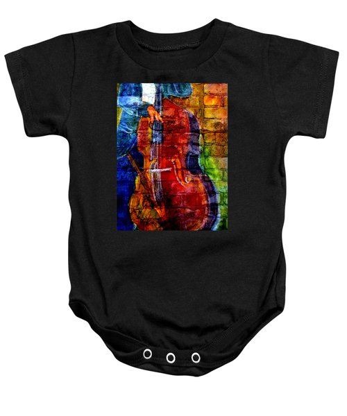 Musician Bass And Brick Baby Onesie