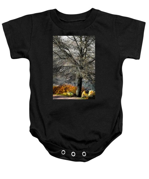 Naked For The Winter Baby Onesie