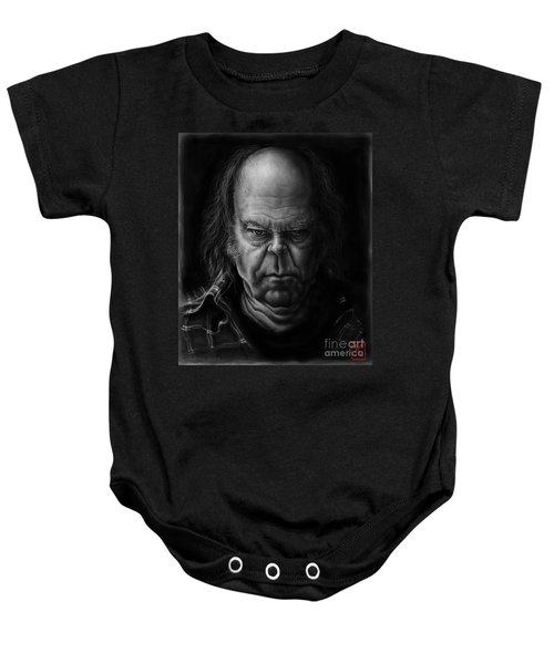 Neil Young Baby Onesie by Andre Koekemoer