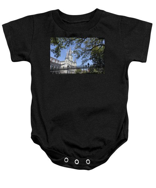 St Louis Cathedral In New Orleans New Orleans 18 Baby Onesie
