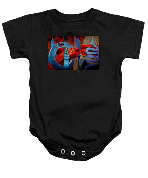 New York City Park Avenue Sculptures Reimagined Baby Onesie