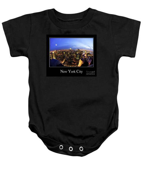 New York City Skyline Baby Onesie