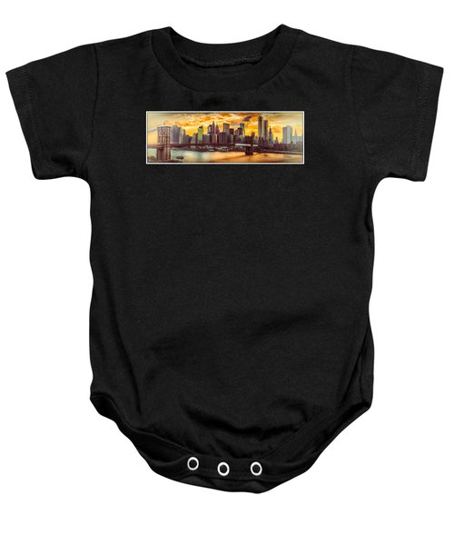 New York City Summer Panorama Baby Onesie