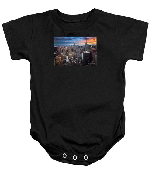 New York New York Baby Onesie by Inge Johnsson