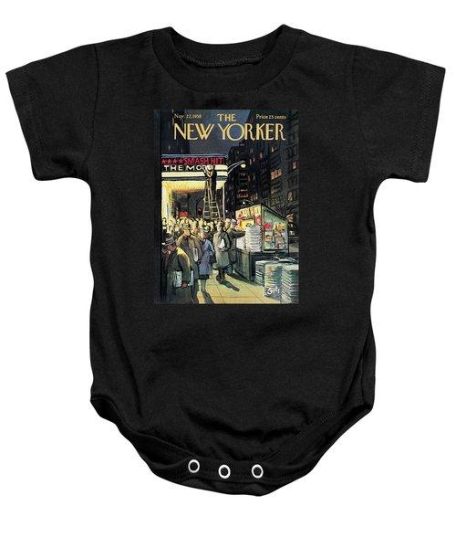 New Yorker November 22nd, 1958 Baby Onesie