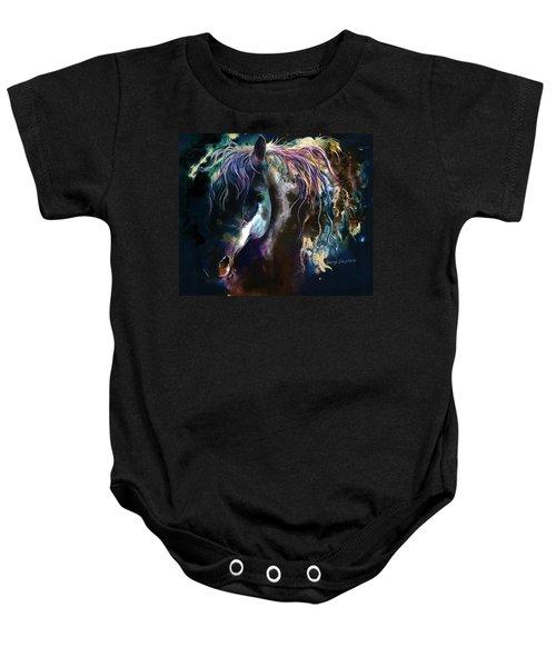 Night Stallion Baby Onesie