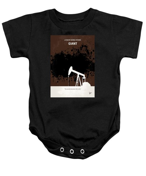 No102 My Giant Minimal Movie Poster Baby Onesie by Chungkong Art