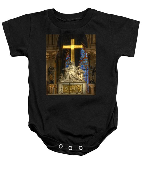 Notre Dame Pieta Baby Onesie