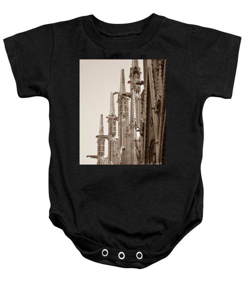 Notre Dame Sentries Sepia Baby Onesie