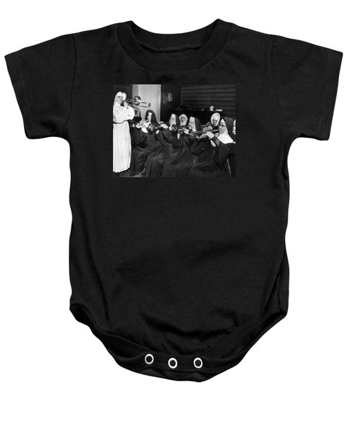 Nuns Rehearse For Concert Baby Onesie